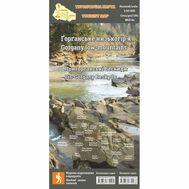 Туристическая карта Горганское низкогорье ламинированная