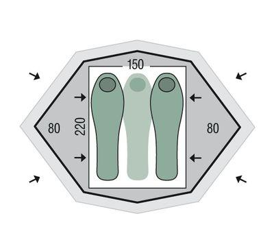 Палатка Gemini 150 Extreme (с юбкой)