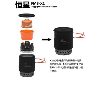 Газовая горелка + насадка FMS-X1
