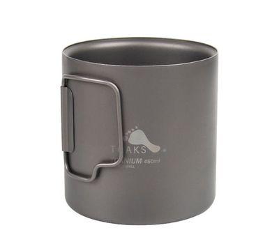 Титановая термокружка TOAKS Titanium 450 ml Double Wall Cup