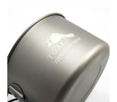 Котелок TOAKS LIGHT Titanium 700ml Pot POT-700-D115-L