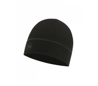 BUFF LIGHTWEIGHT MERINO WOOL 1 LAYER HAT solid black