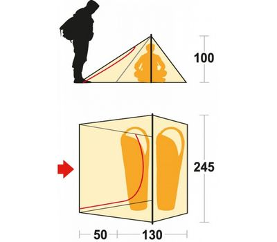 Палатка Ferrino Sintesi 2 (8000) Olive Green