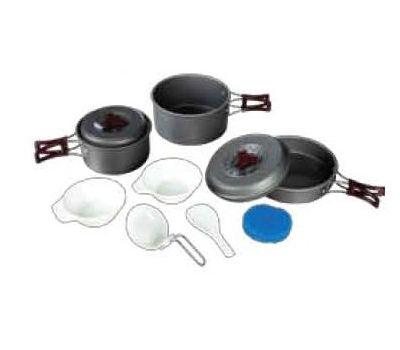 Набор посуды из анодированного алюминия на 2-3 персоны TRC-024